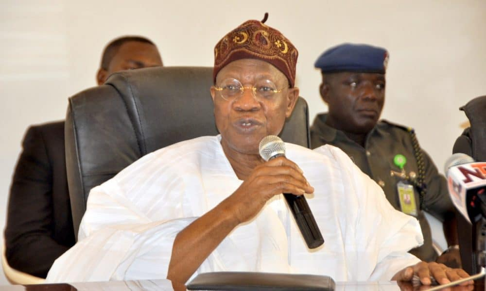 Lai Mohammed 1000x600 - FEC To Holds Its Valedictory Session On May 22