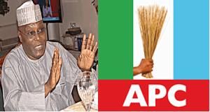 atiku and APC 300x160 - 2023: APC Mocks Atiku, Says He Intends To Buy PDP Presidential Ticket