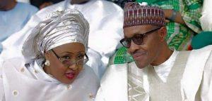 Aisha and Muhammadu Buhari 300x144 - #EndSARS: 'Save The People' – Aisha Buhari Tells Buhari