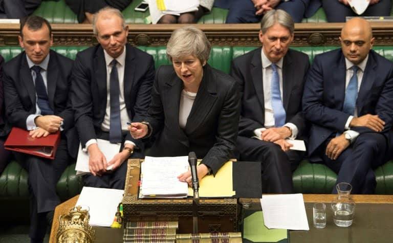British Prime Minister Theresa May at the British Parliament, December 5, 2018 in London