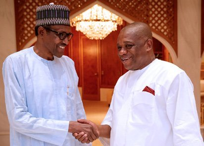 Just In: Buhari in Closed Door Meeting With Orji Uzor Kalu