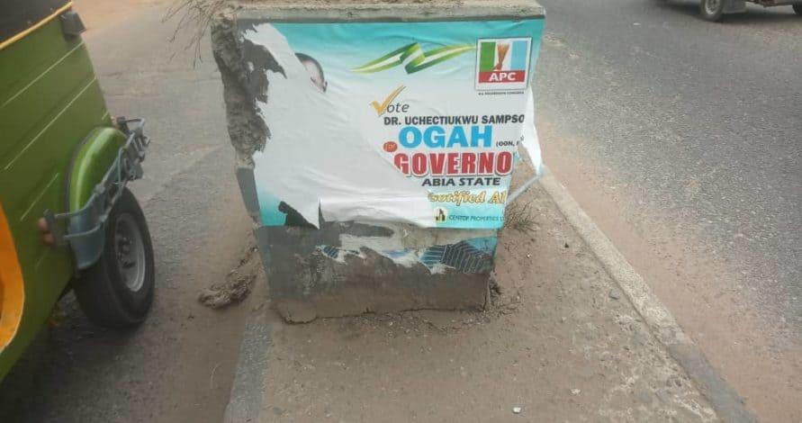 PDP Tearing Posters Of Buhari, Ogah In Abia State – APC
