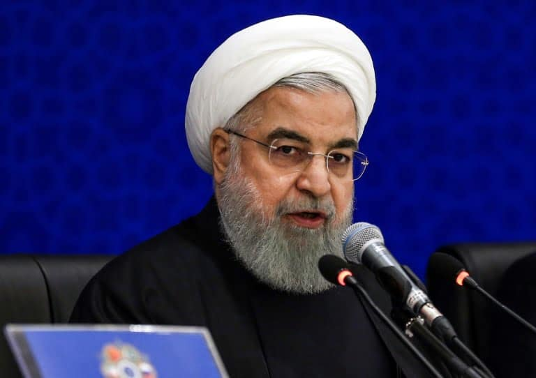 Iranian President Hassan Rohani Speaks to Heads of Parliaments in Afghanistan, Pakistan, China, Turkey and Iran at Anti-Terrorism Conference in Tehran, December 8 2018