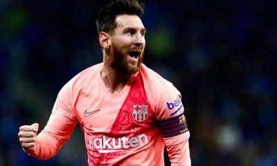 Messi scored twice in the derby with Espanyol