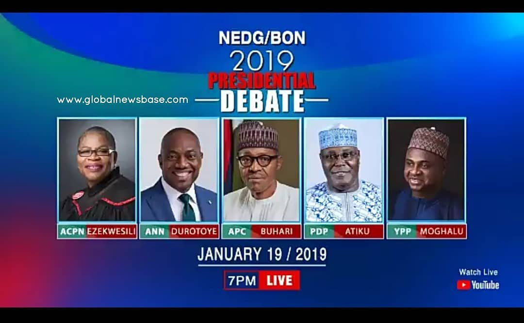 2019 Presidential Debate: Naija News Monitoring Room/Live Reports