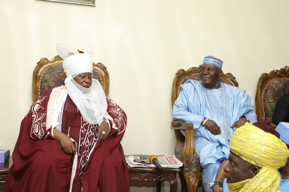 Atiku Pays Courtesy Visit To Emir Of Zazzau In Kaduna (Photos)