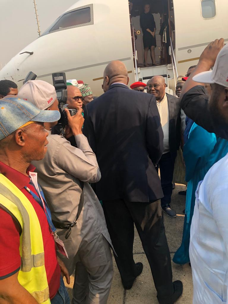 Breaking News: Atiku Returns To Nigeria From Us, Welcomed ...