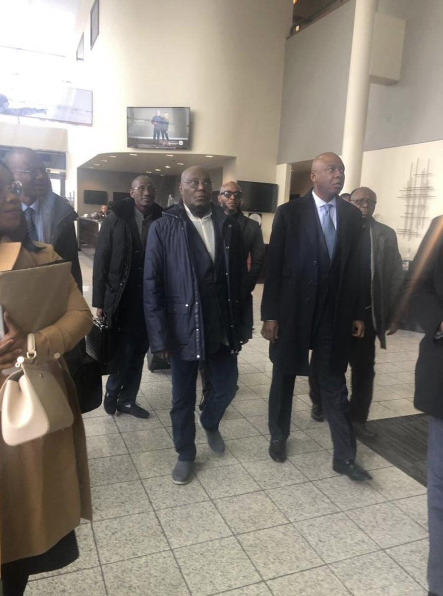 Nigerians Melt Twitter As PDP's Atiku Finally Enters United States