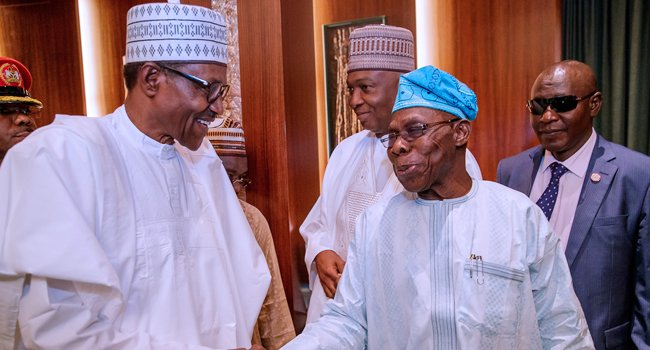 What Buhari Said About Obasanjo As He Turns 82