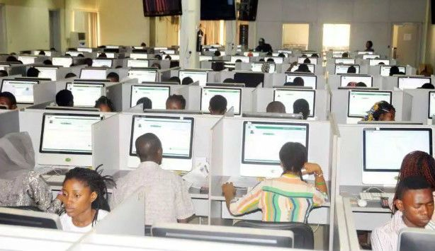 JAMB Candidates in an examination centre - JAMB Latest News: See When JAMB Will Release Results