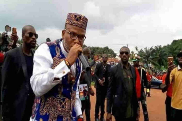 Nnamdi Kanu speaking 630x420 - Biafra: Nnamdi Kanu Reveals Why He Is Grateful To His Sureties