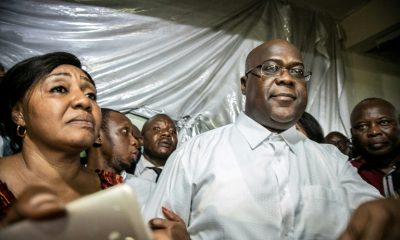 Opposition Felix Tshisekedi after the provisional proclamation of his presidential election on January 10, 2019 in Kinshasa, DRC