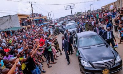 Aba Residents Shock Nnamdi Kanu, IPOB As Massive Crowd Welcome Buhari (Photos/Video)