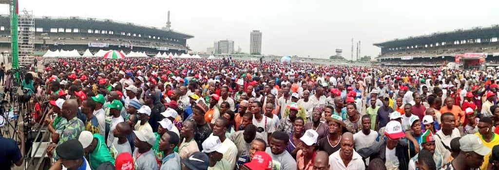 8748134 img - See How Atiku And PDP Leaders Dressed To Lagos For Presidential Rally As Crowd Of Excited Supporters Welcome Them