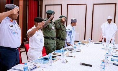 President Buhari Meets Security Chiefs In Aso Villa