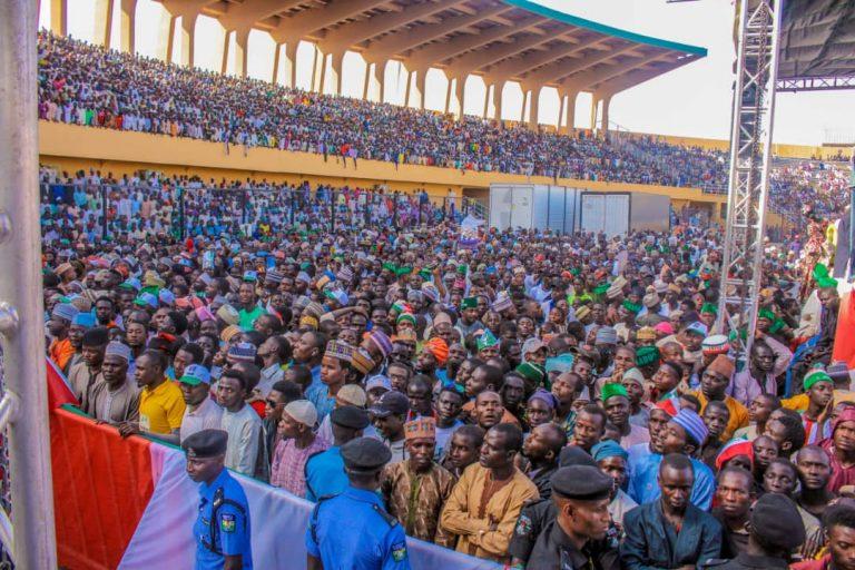 Atiku in Katsina1 768x512 - Photos: Mammoth Crowd As Buhari Takes Campaign To Atiku's State, Adamawa