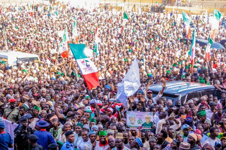 Atiku in Katsina5 768x512 - Photos: Mammoth Crowd As Buhari Takes Campaign To Atiku's State, Adamawa