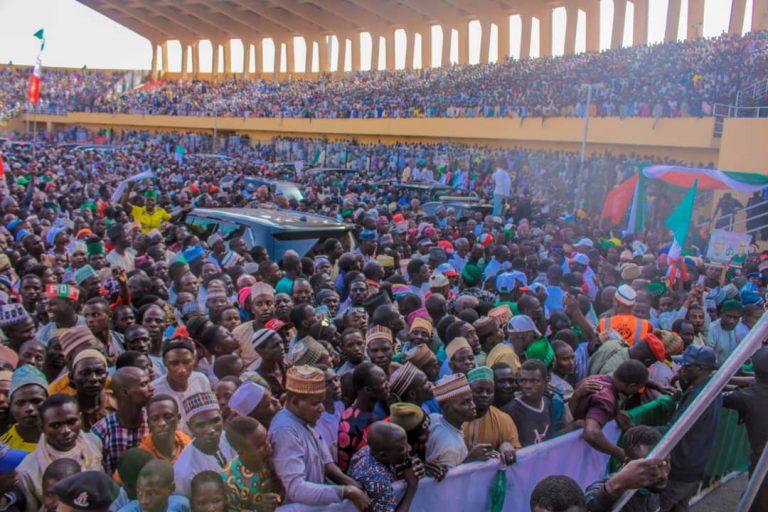 Atiku in Katsina6 768x512 - Photos: Mammoth Crowd As Buhari Takes Campaign To Atiku's State, Adamawa