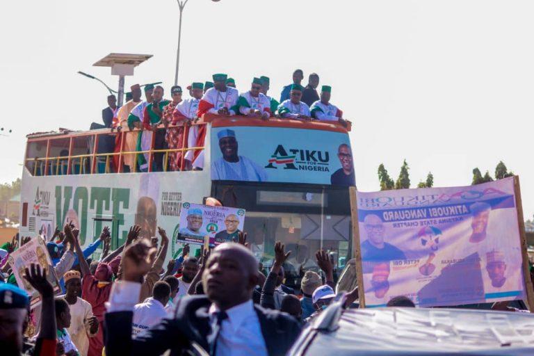 Atiku in Katsina7 768x512 - Photos: Mammoth Crowd As Buhari Takes Campaign To Atiku's State, Adamawa