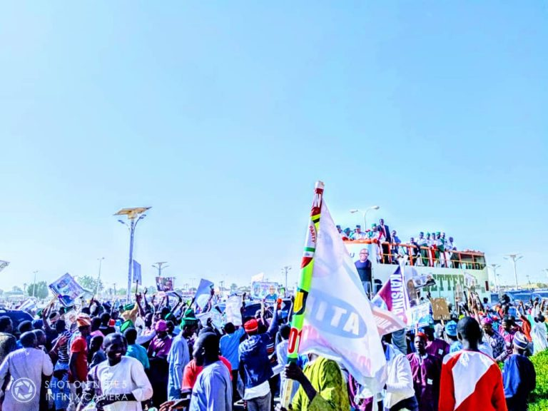 Atiku in Katsina8 768x576 - Photos: Mammoth Crowd As Buhari Takes Campaign To Atiku's State, Adamawa