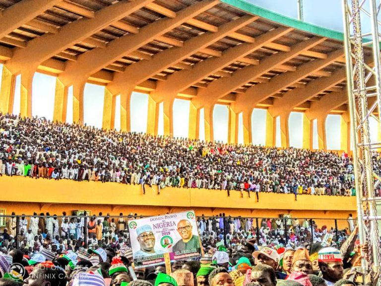 Atiku in Katsina9 768x576 - Photos: Mammoth Crowd As Buhari Takes Campaign To Atiku's State, Adamawa