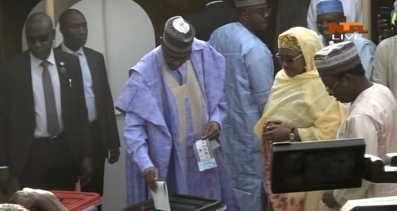 Just In: President Buhari Casts His Votes