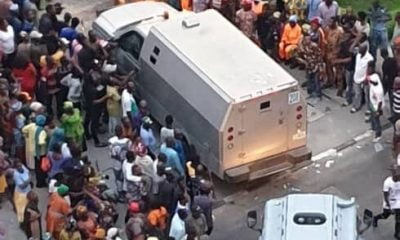 Nigerians React To 'Bullion Vans' Entering Tinubu's Home In Bourdillon