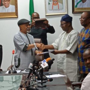 Chris Ngige and ASUU President 300x300 - BREAKING: FG To Resume Meeting With ASUU On Friday