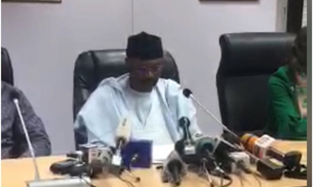 INEC Chairman brief on 2019 elections 1000x600 - Zamfara State: INEC Omits APC From Results Sheets