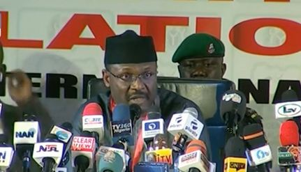 Mahmood INEC announces results - INEC Declares Winner Of Borno Governorship Election