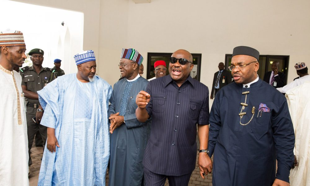 Nigerian governors wike udom 1000x600 - Governors-elect Set To Converge In Abuja