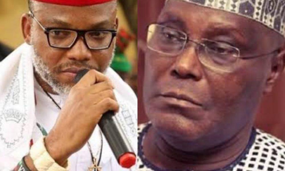 Nnamdi Kanu and Atiku 1000x600 - IPOB Reacts As APC Claims Atiku Is From Cameroon