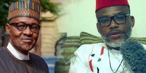 Nnamdi Kanu and Bubu 300x150 - Biafra: Ahead Of Parents' Burial, Nnamdi Kanu Speaks On 'Deal With Buhari Govt'