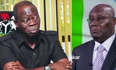 Atiku Is Not Destined To Be Nigeria's President - Oshiomhole