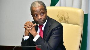 Osinbajo sad 300x168 - 2023: Osinbajo Speaks On Taking Up Presidential Sit