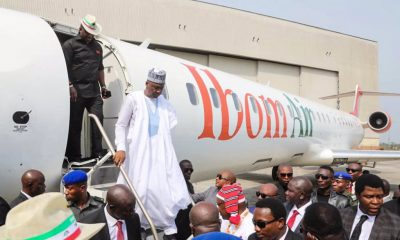 See How Saraki Reacted To Launch Of IbomAir By Akwa Ibom Govt.