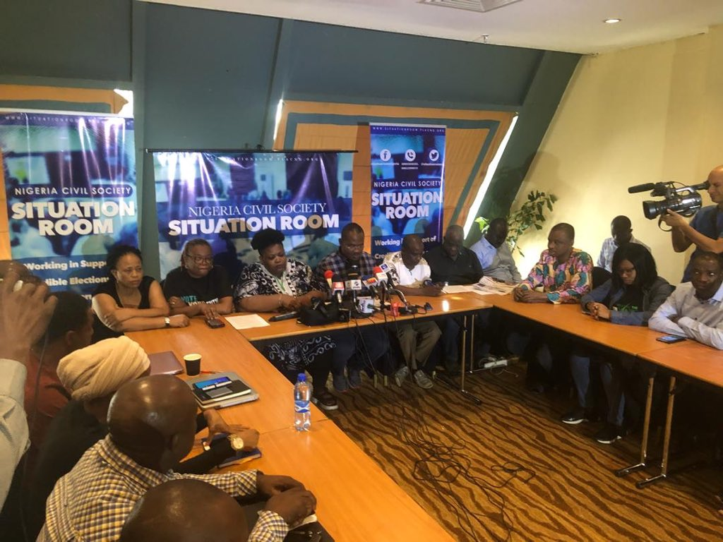 What Situation Room Promised To Do To INEC Over Poll Shift