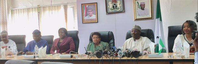 The Sirleaf 1 - 2019: Liberia's Ex President, Ellen Johnson-Sirleaf Meets With INEC Chairman (Photos)