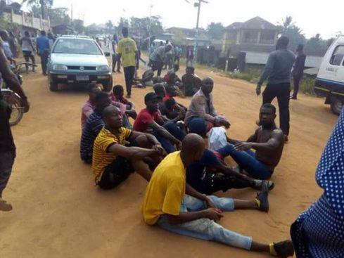 WhatsApp Image 2019 02 23 at 10.02.11 AM 489x367 - #Photos: Soldiers Arrests 10 Ballot Box Snatchers