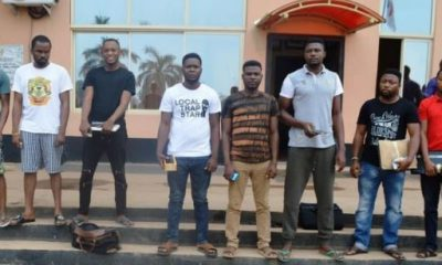 Photo of the suspects as released by the EFCC