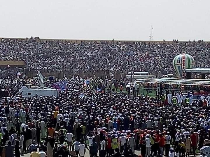 apc crowd - Katsina Stands Still As Unprecedented Crowd Welcomes Buhari For APC Presidential Rally