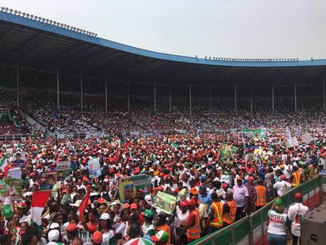 pdp in rivers 2 - Pictures And Videos From PDP's Presidential Rally In Rivers State As Davido Performs