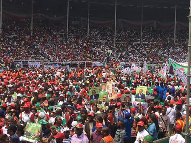 pdp in rivers - Pictures And Videos From PDP's Presidential Rally In Rivers State As Davido Performs