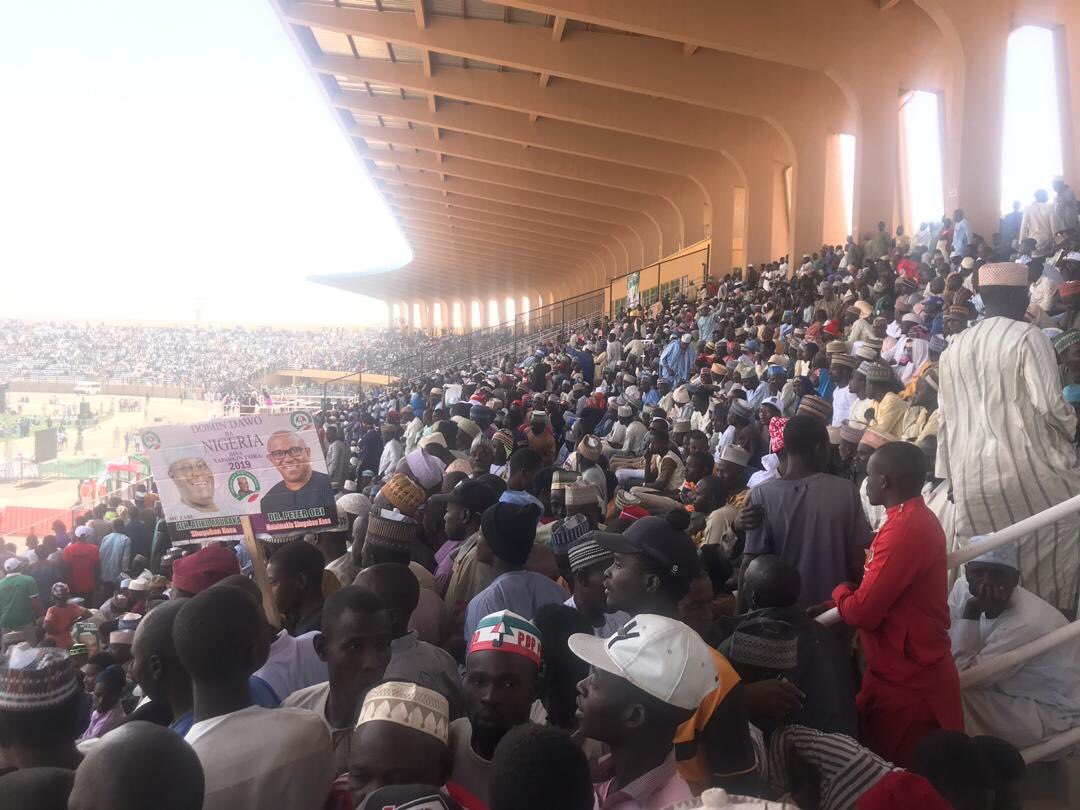 pdp rally 2 - Atiku, PDP Shocked By Crowd At Presidential Campaign In Katsina State