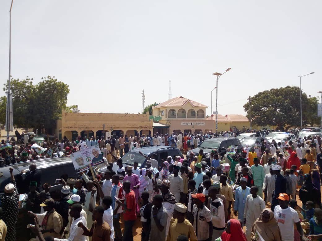 pdp rally 3 - Atiku, PDP Shocked By Crowd At Presidential Campaign In Katsina State