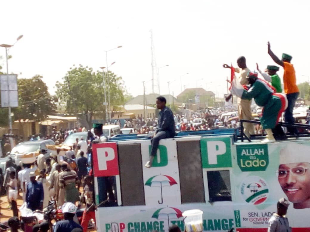 pdp rally 4 - Atiku, PDP Shocked By Crowd At Presidential Campaign In Katsina State