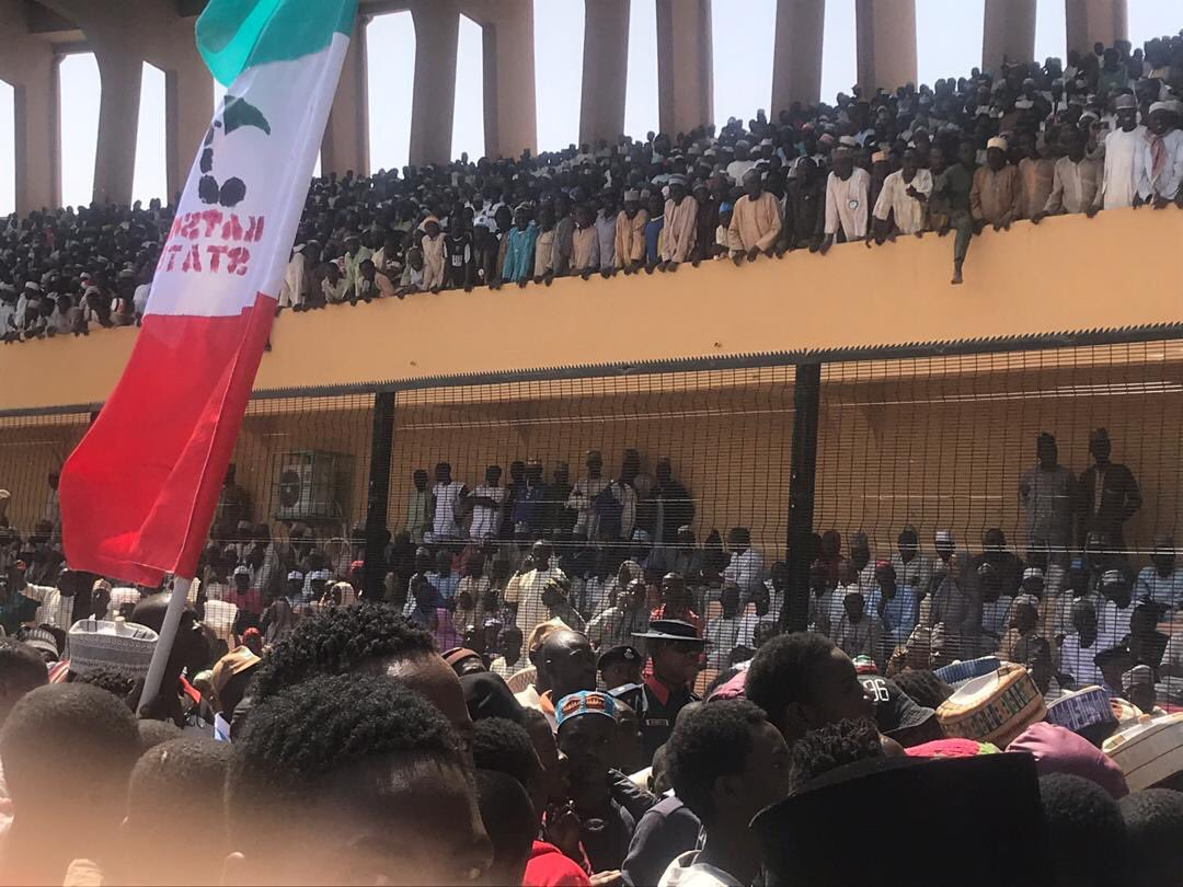 pdp rally - Atiku, PDP Shocked By Crowd At Presidential Campaign In Katsina State
