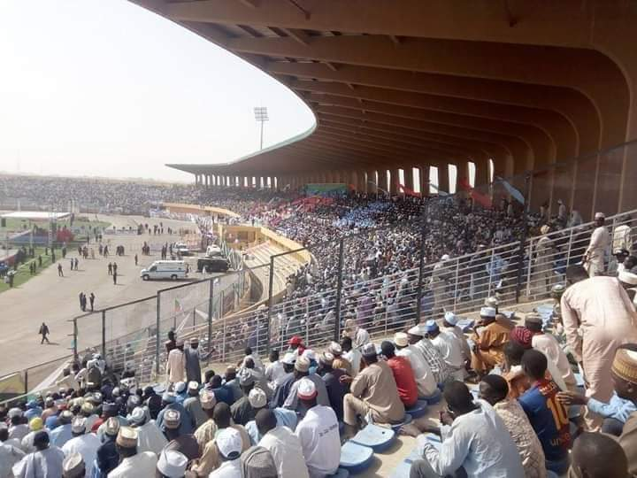 pmb in katsina - Katsina Stands Still As Unprecedented Crowd Welcomes Buhari For APC Presidential Rally