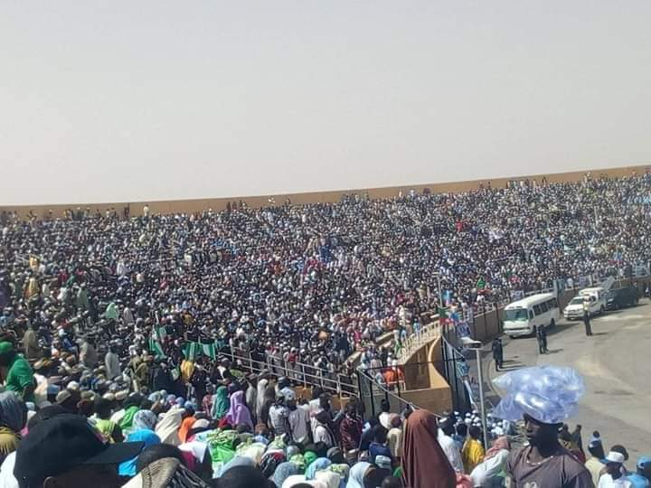 pmb kats - Katsina Stands Still As Unprecedented Crowd Welcomes Buhari For APC Presidential Rally