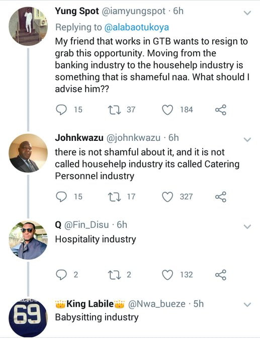 response - Twitter User Offers N250,000 For Graduate House Help In Banana Island. Would You Apply?
